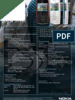 Nokia X2-01 Handy Sheet