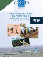 Questions de genre en zones sèches - Les femmes, actrices de la lutte contre la désertification
