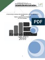 informe ECER 2010