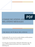 Communications and Public Relations Messages