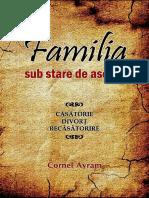 Cornel Avram Familia Sub Stare de Asediu