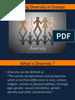 Managing diversity in groups
