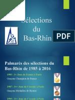 Palmarès Sélections Du Bas-Rhin
