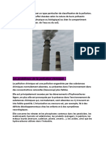 La pollution chimique est un type particulier de classification de la pollution.docx