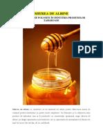 MIEREA DE ALBINE - Materii prime de bază în fabricarea produselor zaharoase