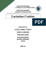 Aj Business Plan (lactation cookies)