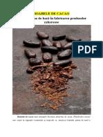 Modificări în compoziţia chimică a boabelor de cacao în timpul fermentării şi uscării