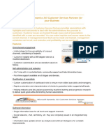 Mirosoft Dynamics 365 Customer Service Partners
