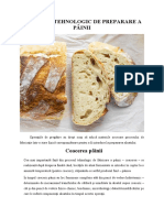 Coacerea pâinii -Procesul tehnologic de preparare a painii