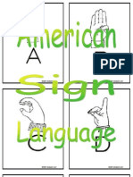Printable American Sign Language Flashcards