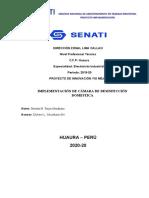 PROYECTO DE INNOVACION FABRICACION DE CAMARA DE DESINFECCIÓN DOMESTICA .-. TR3 BM