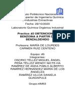 Practica #2 OBTENCION DE BENZOINA A PARTIR DE BENZALDEHIDO