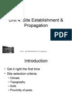 Unit 4 - Site Establishment  - white