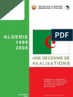 l'algérie une decenné de realisations