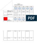 Exam Schedule SHS 2NDSEM