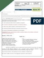 monitoria - lista 17 - gabarito