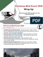 Christmas Bird Count 2020 Wrap Up January 11, 2021