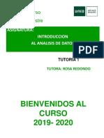 TUTORIA 1 INTRODUCCION AL ANALISIS DE DATOS 2019 2020