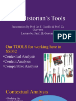 (4) The Historian's Tools(1)
