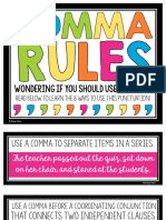 3 Comma Rules Posters