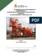 Manual de  mantenimiento Planta AD-60