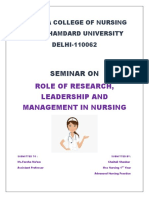 role of research , leadership and management.docx
