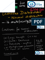INTRODUCING  NORMAL  DISTRIBUTION from prof Iyer -IBI Version
