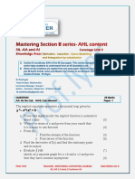Mastering  Section B  nn marks AA and AI HL  Curve Sketching and Calculus