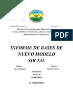 BASES DE NUEVO MODELO SOCIAL