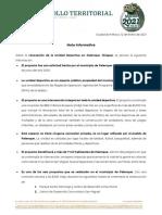 21.01.12 Nota Informativa - Unidad Deportiva - Palenque