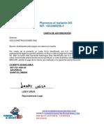 carta autorización plomeros