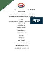 Presupuesto de ventas y Presupuesto de producción doris lasluisa4C
