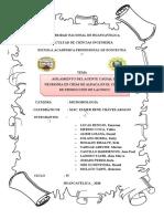AISLAMIENTO DEL AGENTE CAUSAL DE NEUMONÍA EN CRÍAS DE ALPACA EN EL CENTRO DE PRODUCCIÓN DE LACHOCC- Grupo 4