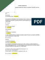 TAREA DE MATEMATICA FINANCIERA INTERES COMPUESTO