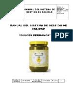 Dulces Peruanos Manual de Calidad Iso 9001