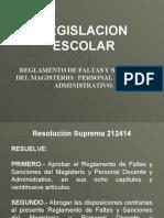27 REGLAMENTO DE  FALTAS Y SANCIONES