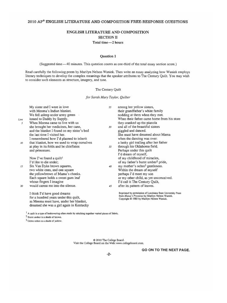 Ap us history 2003 dbq essay