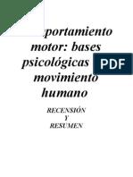 Comportamiento motor. Bases psicológicas del movimiento humano