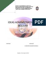 ideas administrativa de bolivar