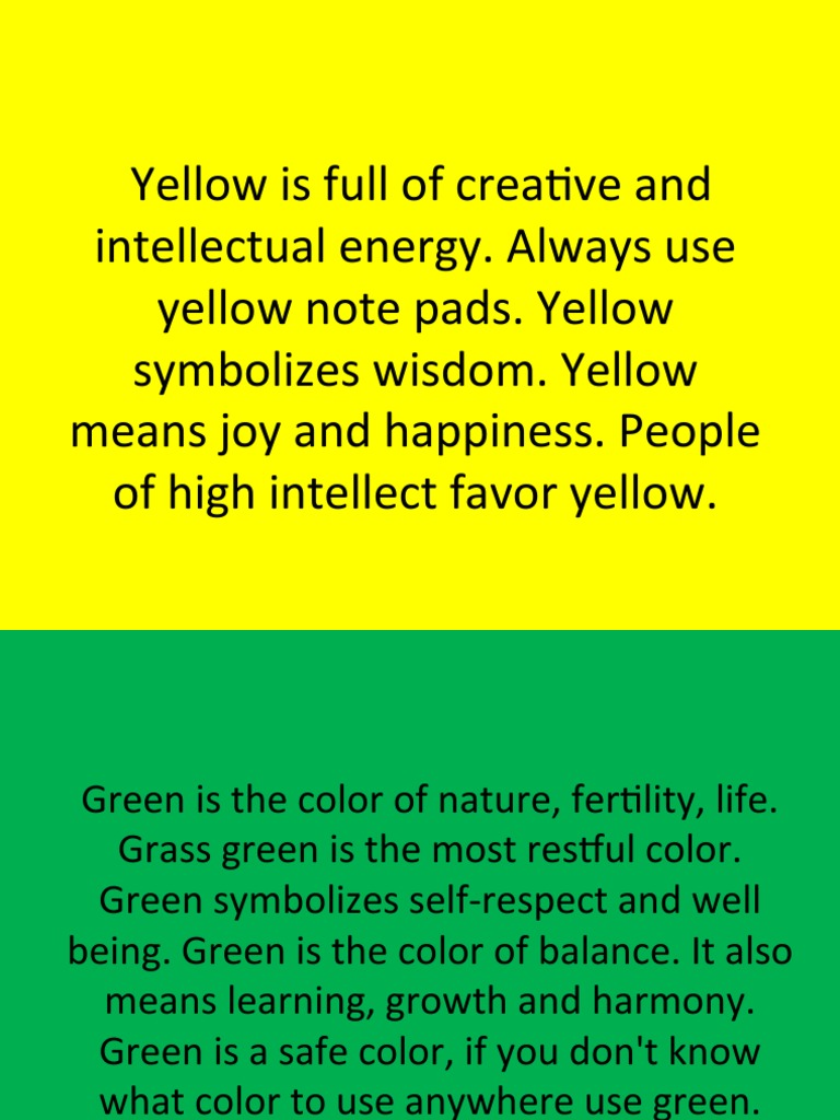 Colors and Their Meaning | Red | Yellow