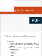 Training and Development of Expatriates