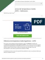 ¿Qué es la diferencia de temperatura media logarítmica_ - LMTD - Definición