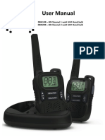 Crystal UHF CB 2-Way radio Dbh10r Dbh20r Manual