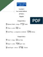 Lección 2 de hebreo clasico y moderno