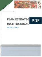 Plan Estrategico Institucional 2015-2018