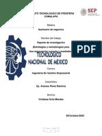 Reporte de investigacion estrategias y metodologías para una negociación correcta y resultados