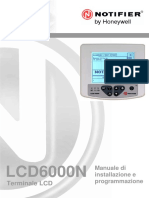 Notifier LCD6000N Manuale Italiano