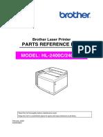 HL-2400C parts list