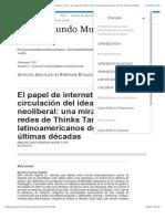 El papel de internet en la circulación del ideario neoliberal