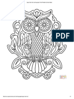 Sugar Skull Owl coloring page _ Free Printable Coloring Pages